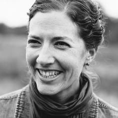 black and white photo of smiling woman