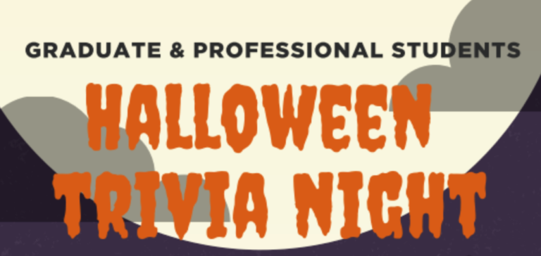 EVENT: Halloween Trivia Night with COGS and Graduate Student Life & Wellness, Oct 28