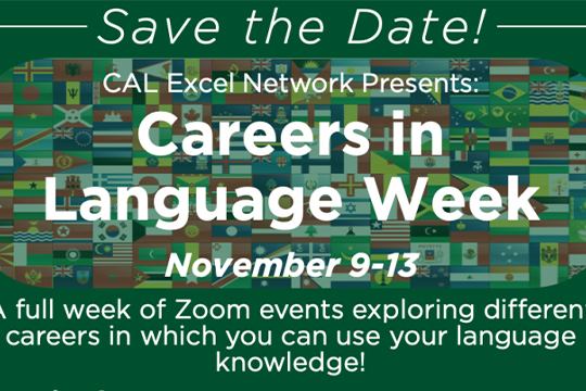 CAL Excel Network Presents: Careers in Language Week