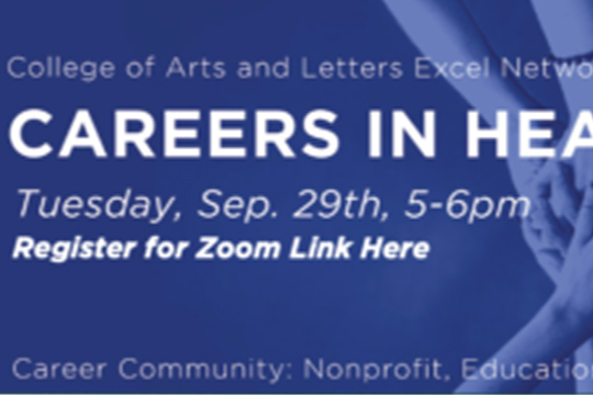 EVENT: College of Arts and Letters Excel Network Presents – Careers in Health