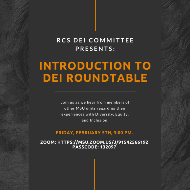 RCS DEI Committee Presents: Introduction to DEI Roundtable