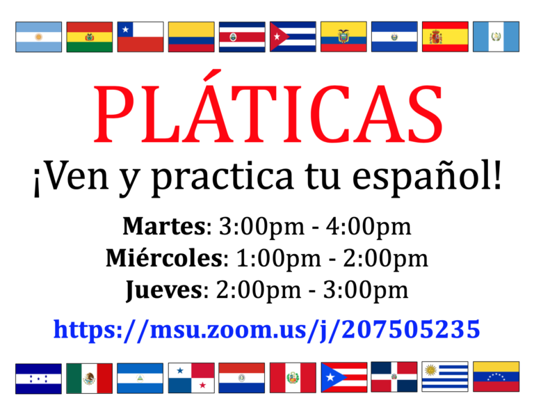 Practice Your Spanish Skills: Pláticas returns for Spring 2021