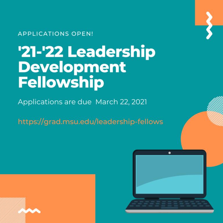 Applications Open for '21-'22 Leadership Development Fellowship