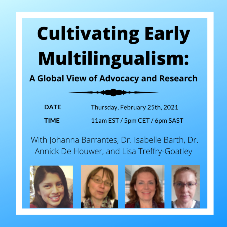 "EVENT: ""Cultivating Early Multilingualism: A Global View of Advocacy and Research"""