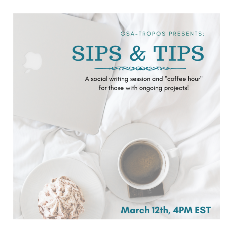 """EVENT: """"Sips & Tips"""" with GSA-TROPOS."""
